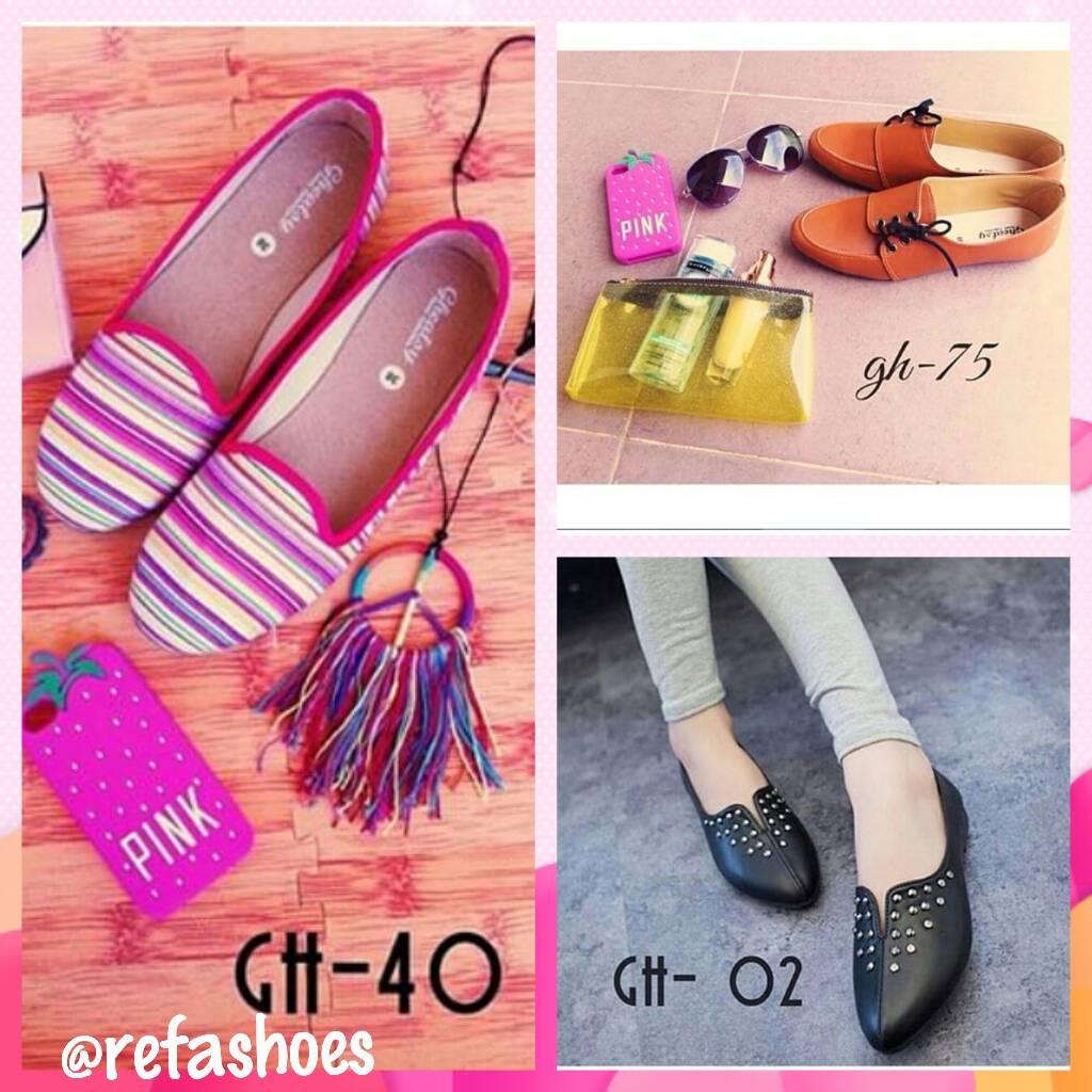 Sepatu Wanita Flat Shoes Pusat Murah Branded Karet Suede Iklan